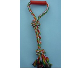 Rope Pull Toy - Handle & 3 Knots