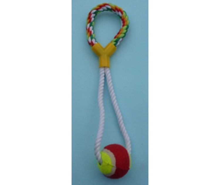 Rope Pull Toy - Handle & Ball