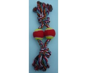 Rope Pull Toy - 2 Balls